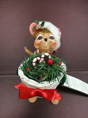 """Annalee Christmas Greenery Mouse Doll 6"""" NWT 2005"""
