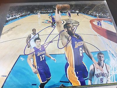 JORDAN CLARKSON AUTOGRAPHED HAND SIGNED 8x10 PHOTO WITH PROOF LAKERS KOBE BRYANT