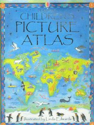Usborne children's picture atlas by Linda Edwards (Hardback)