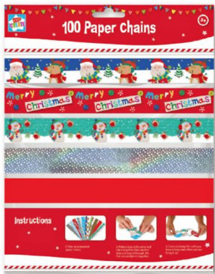 100 Make Your Own Christmas Paper Chains Ceiling Decoration Kids Craft
