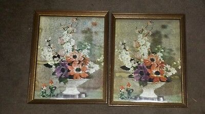 3-D FLORAL PICTURE by Vari-Vue Lenticular 3-D Picture Large 12 x 15 inches