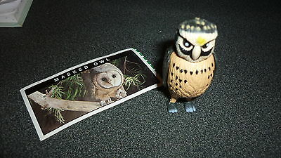 Colectable Australian Yowie Toy With Papers, Masked Owl