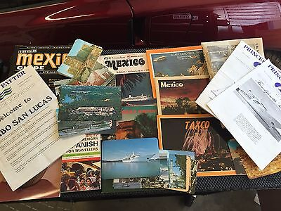 Sun Princess cruise mexico 1976 news letters, 32 post cards and other