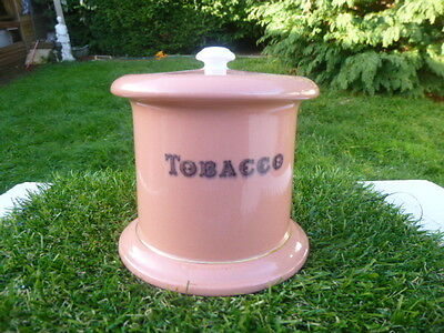 LOVELY * W&R * CarltonWare * lidded tobacco jar* LOW RESERVE * lovely condition
