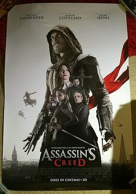 "Assassin's Creed Original UK One Sheet Cinema Film Poster 27"" x 40"" Xbox One PS4"