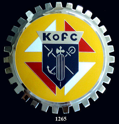 CAR GRILLE EMBLEM BADGES -  KNIGHTS OF COLUMBUS(KofC)