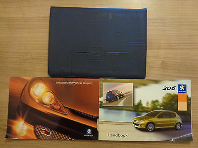 Peugeot 206 Owners Handbook/Manual and Wallet 04-06