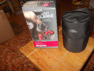Fantastic New & Boxed Nicky Clarke Travel Heated Rollers In Case - Worldwide Use