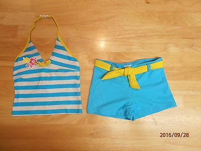 Girls Two Piece Swimsuit Tankini Set, Age 2-3 years, Worn Once
