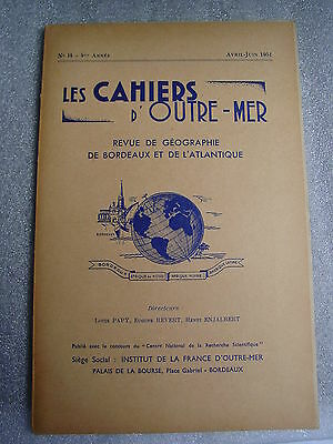 Les Cahiers d'Outre-Mer N°14 avril-juin 1951