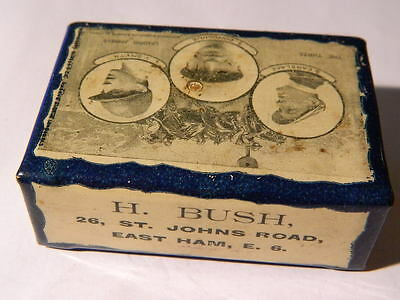 Scarce  Vintage Tin  Matchbox Holder