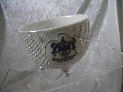 VINTAGE NEW BRIGHTON crested china sugar bowl by ME BAVARIA