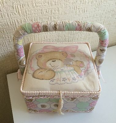 Forever Friends Padded Sewing Box With Handle And Built In Pin Cushion