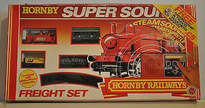Hornby Super Sound Freight Railway Train Set R597 OO Gauge Boxed Toy