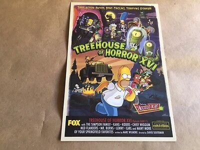 The Simpsons Treehouse of Horror XVI Premiere Party Invitation VERY RARE