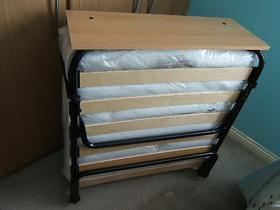 Jay-Be Pocket Comfort Folding Single Guest Bed With Dust Cover