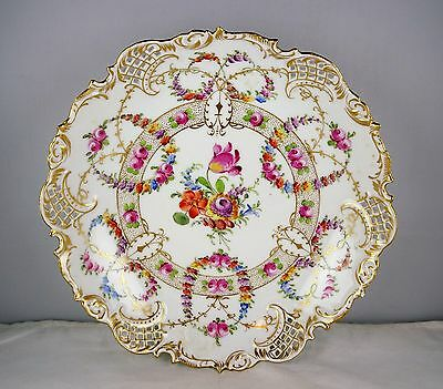 Hirsch Franziska Dresden China Reticulated Bowl - Multi Color Floral, Gold