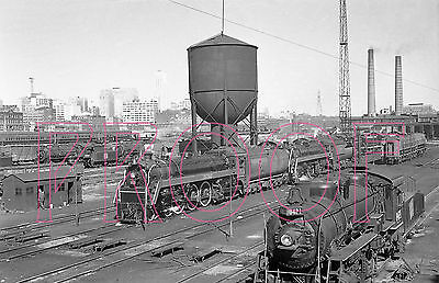 Canadian National Railways (CNR) Engines 5702 & 8421 at Spadina in 1958 - 8x10