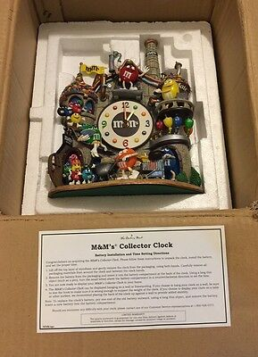 The Danbury Mint M&M's Chocolate Factory Collector's Clock ORIGINAL PACKAGING!!