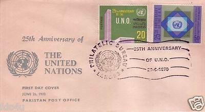 Pakistan Fdc 1970 & Stamps 25th Anniversary of United Nations