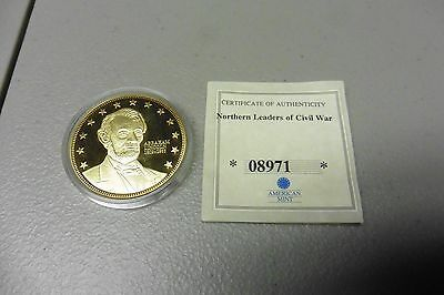 Northern Leaders Of The Civil War Abraham Lincoln Medal American Mint With Coa