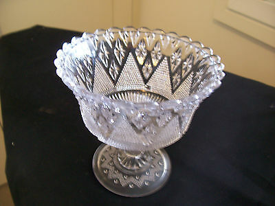 Vintage Pressed Glass Bowl on stand