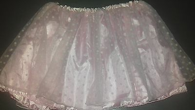 Claire's Children's pink tutu pink polkadot over lay