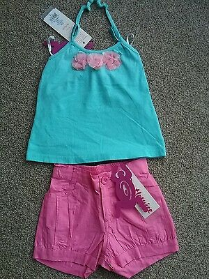 Beetlejuice London Designer girls shorts and top BNWT Age 4-5 years
