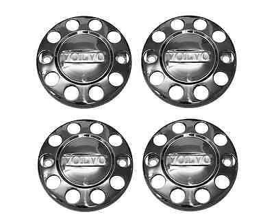4 x Volvo Truck Wheel Trims 22.5 inch - Stainless Steel - Front