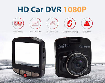 "HD Car DVR Dash Video Camera Cam Recorder G-sensor Night Vision 1080P 2.4"" LCD"
