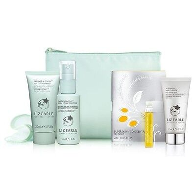 LIZ EARLE SUPERSKIN TRY-ME KIT/GIFT SET (VALUE £29) Inc Cleanse and Polish ~ NEW