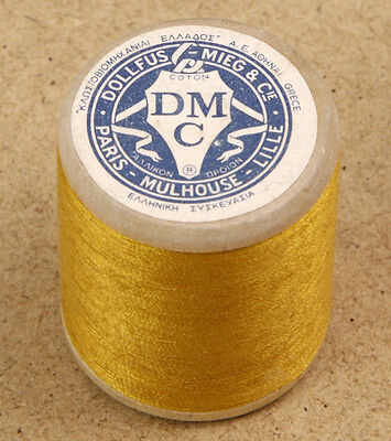 DMC Vintage Wooden Full Spool Cotton Thread 541m Made in Greece