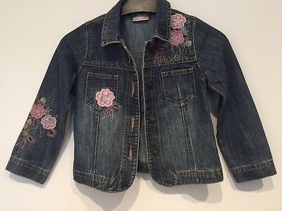 Girls beautiful Denim Jacket, Next age 5-6 years,  pretty embroidery