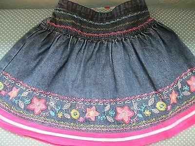 Pretty embroidered denim skirt age 3-4 years