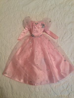 Barbie Doll The Wizard Of Oz Glinda The Good Witch Long Pink Dress Gown