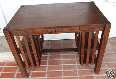Antique Mission Desk Arts & Crafts Wood Shelves Local Pick Up Writing Library
