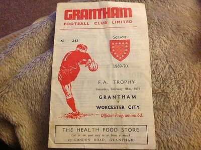 Grantham Town v Worcester City FA Trophy 21st February 1970