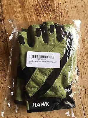 Gym / Leather Weightlifting Gloves - New size Large