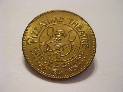 1977 CHUCK E CHEESE TOKEN INAUGURAL YEAR 1st WE TRUST PIZZA TIME THEATRE 25¢ USA