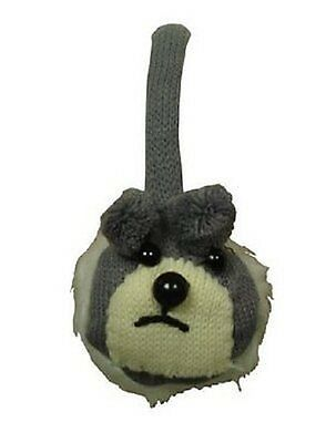 New Girls Kids Casual Charcoal Grey Chunky Knitted Teddy Bear Ear Muffs Rrp £8