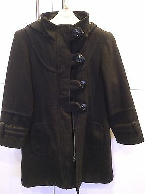 NEXT Black Woolen Smart Coat (Fully Lined) Age 5 - 6
