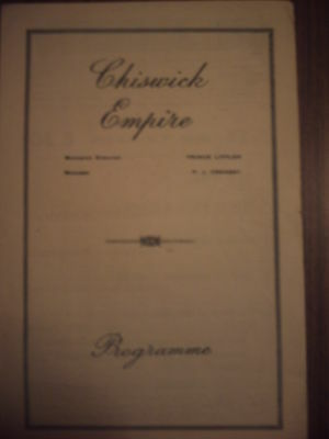 Chiswick Empire War Time 'variety' Cavan O'conner Programme.