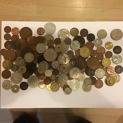 Joblot Of British And Foreign Coins