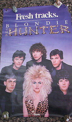 Blondie 1982 Original Promo Poster THE HUNTER mint condition