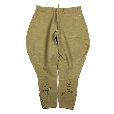Original Us Army Officers Od Wool Breeches Pants Trousers - W36 L26