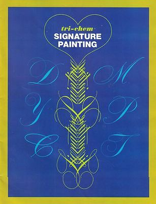 Tri-Chem Signature Painting Transferring General Instructions with Alphabets