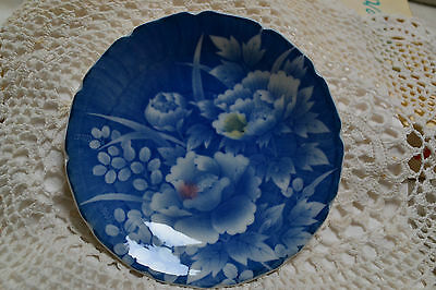 Small Decorative Plate - Floral - Blue