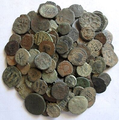 10 Lot of Ungraded, Unsorted and Uncleaned Desert Roman and ancient coins !!