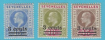 Seychelles 49-51   Mint  Hinged Og *  No Faults Extra Fine!