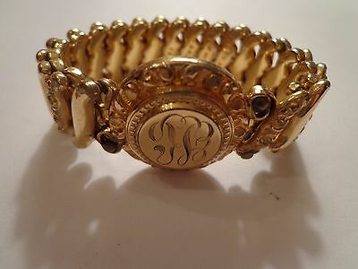 Antique Victorian Deco Gold Filled Not Marked Bracelet Small For 6In Wrist